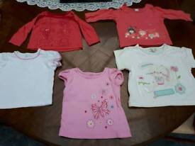 Baby girls tops 3-6mths