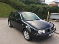 **VOLKSWAGEN GOLF GT TDI 1.9 DIESEL5 DOOR HATCHBACK BLACK (2003 YEAR)**