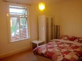 Large double room for let, free bills, couple or single, quiet clean house share