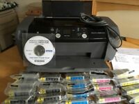 Epson Stylus Photo R240 Printer + 46 New Ink Cartridge Refils Little Used Excellent Condition BS34