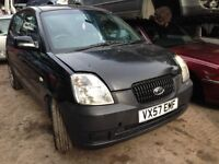 2007 Kia Picanto 1.1 LS 5dr black manual BREAKING FOR SPARES