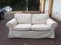 IKEA EKTORP Cream Two seat sofa free London delivery