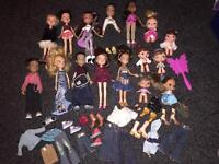 Bratz dolls, party bus, school bus, plane and house