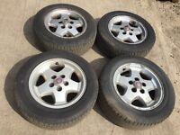 """Jaguar XJ 16"""" alloy wheels - good tyres"""