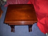 Nest of Three Tables ( mahogany ) ?