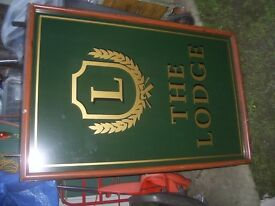 Pub sign double sided excellent condition