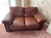 Two 2 seater couches and chair for sale