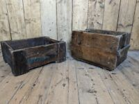 FRENCH vintage crates storage decorative boxes industrial patina gplanera