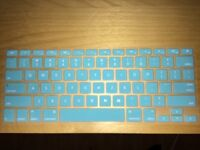 Blue silicone keyboard cover macbook pro