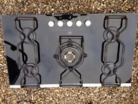 AEG black glass 5 burner hob