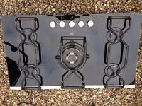 AEG black glass 5 burner hob
