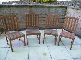 Hardwood seats