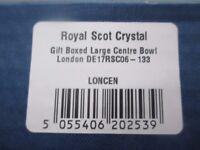 Royal Scot Chrystal Gift Boxed Large Centre Bowl - £100.00