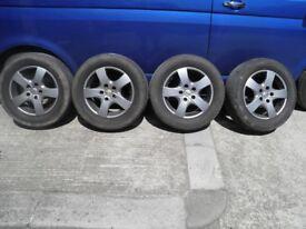 4 alloy wheels off t5 t28 vw transporter