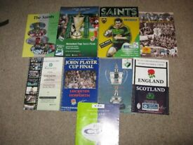 Rugby Union Programmes x 9