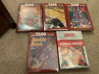 5 x brand new sealed Atari 2600 games