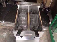 COMMERCIAL CATERING VALENTINE TWIN PAN FRYER CUISINE DINING RESTAURANTS CAFES TAKEAWAY FASTFOOD BAR