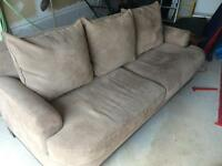 Cindy Crawford suede couch