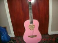 pink candy rox guitar excellent condition