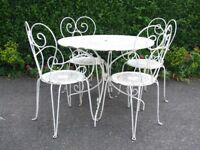 4x Sets of Wrought Iron Garden Furniture