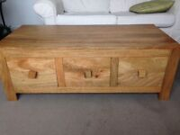 Coffee table and tv unit. Solid wood.