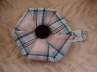 Brand New With Tags Lochcarron Princess Diana Blue Tartan Hat