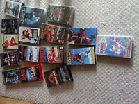 A COLLECTION OF 17 VHS POPULAR TAPES