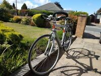 Gents alloy hybrid/ road bike. Good condition. Suitable for someone 1.5 to 1.9M tall