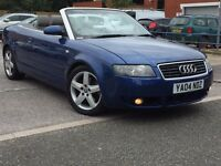 2004 AUDI A4 CABRIOLET CONVERTIBLE 1.8 T SPORT MANUAL LOW MILEAGE LONG MOT NOT CLK C CLASS 3 SERIES
