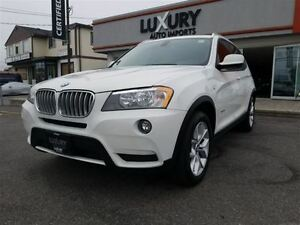 2013 BMW X3 2.8I XDRIVE-PREMIUM PKG-PANORAMIC ROOF-76K