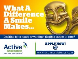 Support Workers and Care Assistants in Brentwood - no experience necessary.