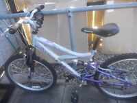 ladies/girls bike ,24inch frame with gears and new lock