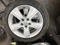 Vauxhall vectra R17 alloy wheels