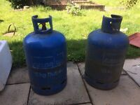 Calor Gas 2 x bottles 15kg butane. Used but both estimated to be half full. Collection only.