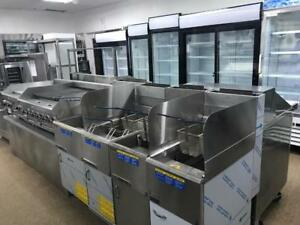 RESTAURANT COOLERS, FREEZERS, PREP TABLE, MERCHANDISERS, UNDERCOUNTERS, BAR FRIDGES, OVENS, RANGES, FRYERS, DISHWASHERS!