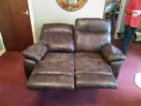 Sofa, Faux Antique leather 2 Seater recliner