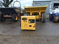 Generator Welder 6kva silenced diesel 110v or 240v electric start