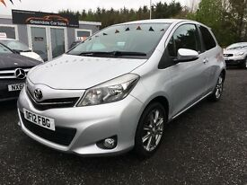 2012 Toyota Yaris, Sat Nav, Bluetooth, 12 MONTHS Warranty, Finance Available