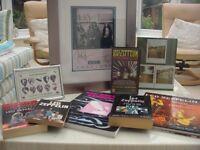 Led Zeppelin memorablia & book collection - Superb.