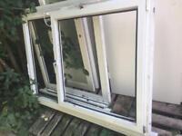 Upvc window frame 170w x133h with glass