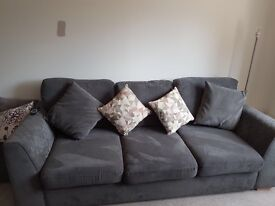 4 seater fabric sofa and storage box for sale bought from dfs brand new 5 months ago.