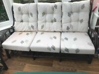 Conservatory 3 seater sofa & 2 single seats