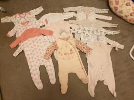 Large 50+ piece baby girls 3-6month clothes bundle