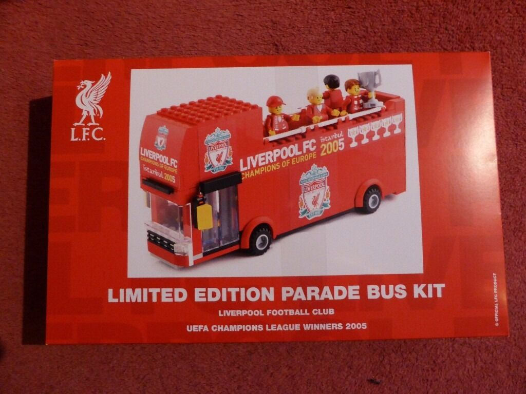 Liverpool Fc Bedroom Accessories Liverpool Fc Limited Edition Champs League 05 Lego Bus Only 500