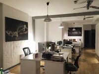Desk space to rent in Shoreditch, bills included, spacious office, kitchen and meeting room