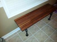 Exotic hardwood benches