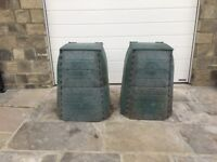 Compost Bins for sale. Robust plastic construction. Easy to assemble or disassemble .