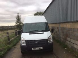 FORD TRANSIT LWB HIGH ROOF.2012.FULL HISTORY.6 SPEED.125 PS.TOW BAR.1 OWNER