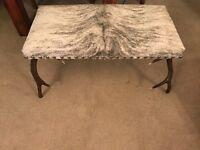 Designer real antler stool