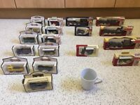 Collection of 18 die cast model vehicles in boxes and in perfect condition